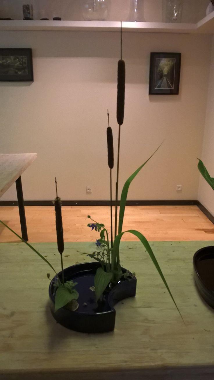 Ikebana demostration hos De Japanske Haver