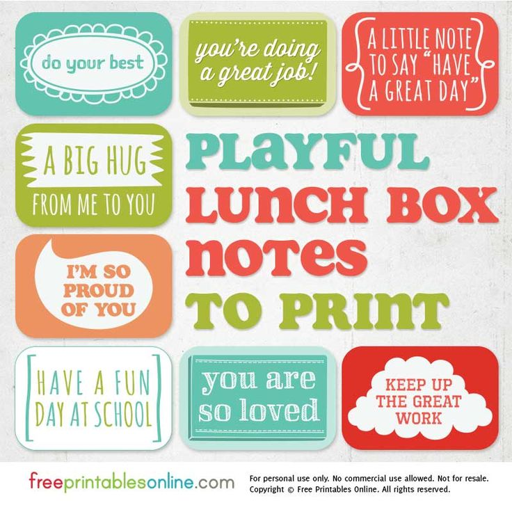 This set of 8 free printable lunch box notes to download is a sweet way to show your children you are thinking of them throughout the day, even while they are at school. These are especially effective