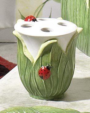 Ladybug Bath Accessory Home For The Bathroom Bathroom Accessories Ladybug Bathroom Toothbrush