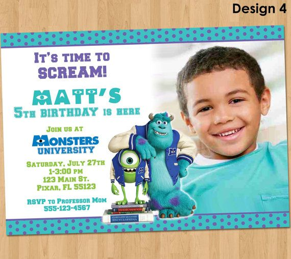 Monsters University Invitation  Monsters by KidsPartyPrintables, $9.99
