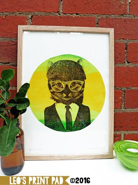 'Le Citron Cat' A3 print available at; etsy.com/au/shop/LeosPrintPad madeit.com.au/leosprintpad
