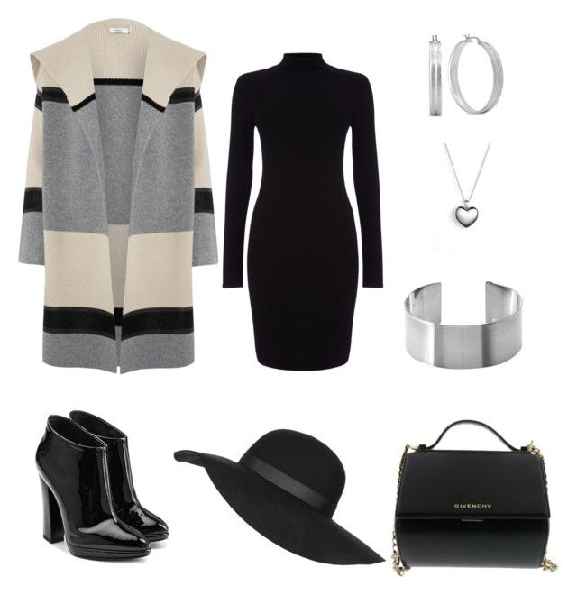 """""""Monday Work Outfit"""" by styledbyrhoni on Polyvore featuring Vince, Giuseppe Zanotti, Phase Eight, Givenchy, Topshop, Pandora, HMY Jewelry, women's clothing, women's fashion and women"""