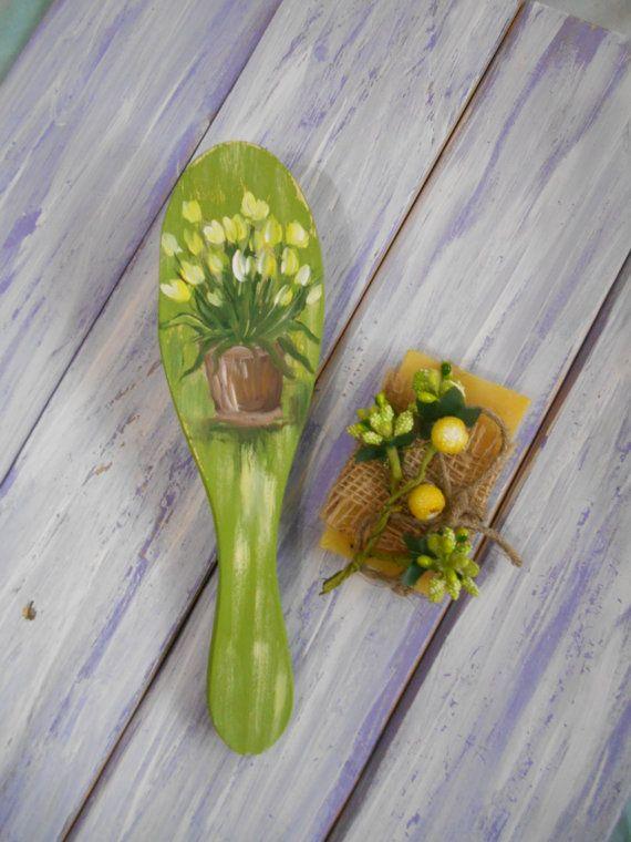 #hair #hairbrush #beauty #forgirl #kids #comb #littlegirl #gift #funny #flowers #tulips #Milapollyart #handpainted