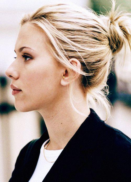 Scarlet Johansson Tragus Piercing