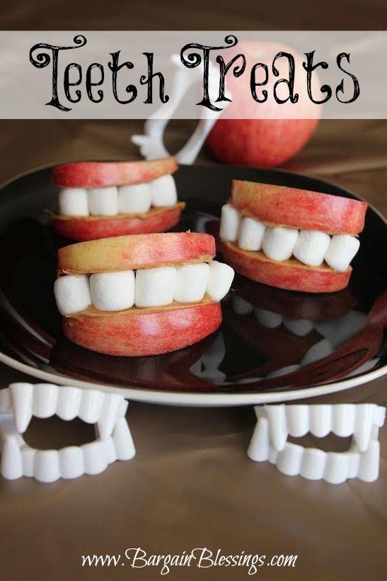 Healthy Halloween Snacks: Teeth Treats #halloween