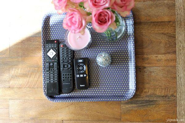 Idea for remote control tray: Coffee Table Tray