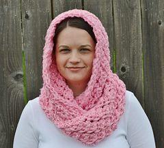 Hooded Crochet Infinity Scarf ~ free pattern