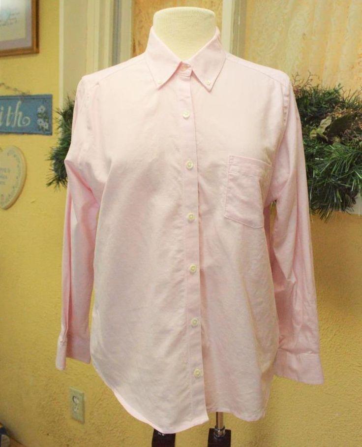 Cabin Creek Worry Free Oxford Cloth Shirt 12P Comfy Work Fun Wear w/Jeans Petite #CabinCreek #ButtonDownShirt #Casual