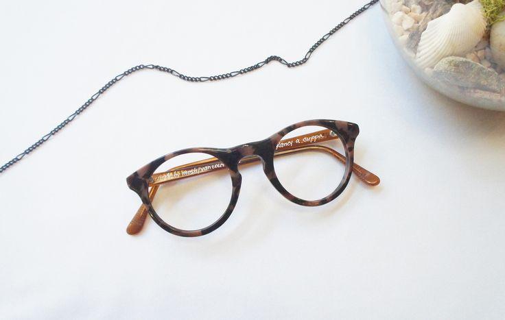 C O M F O R T // Cozier than pumpkin spice. ☕ ( : MOSHdesigns - 'fancy a cuppa', handmade in Gastown) #eyewear #eyeglasses #handmade #custom #handcrafted #fall2016 #trends #women #men #unisex