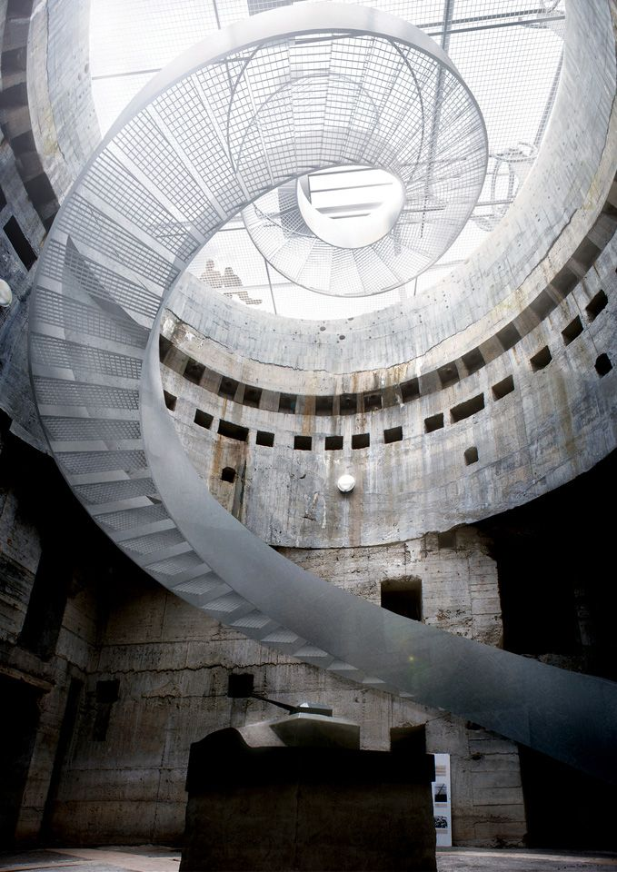 spiral stairs at Blåvand Bunker Museum | architecture by BIG | status: project