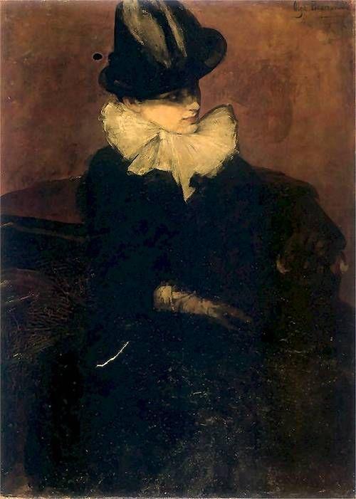 colourthysoul:    Olga Boznańska - Portret kobiety (1888)