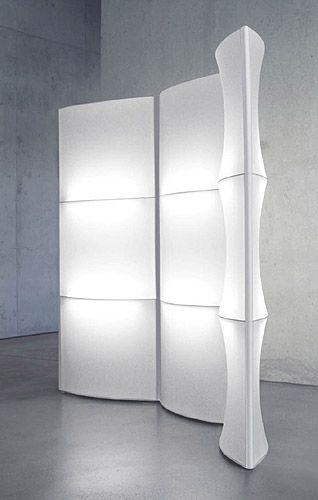 Screen-light room divider..