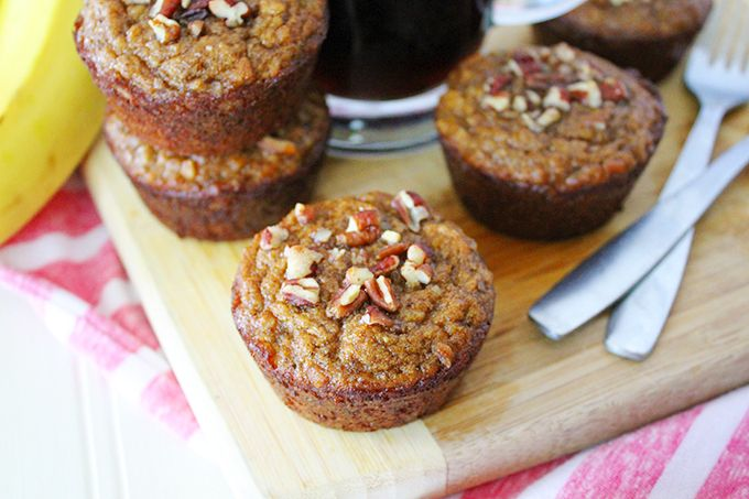 Paleo Banana Muffins - WINNER!!! REPEAT HIT IN MY HOUSE. I LIKE IT MORE THAN THE AGAINST ALL GRAIN BANANA MUFFIN RECIPE. IF DOUBLING, DON'T DOUBLE MAPLE SYRUP AS MUCH.