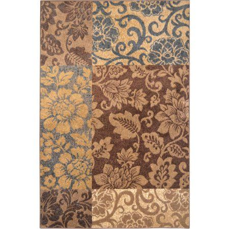 Home Dynamix Reaction Collection HD4956 Modern Area Rug, Brown/Blue
