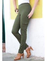 Jessica London Plus Size Cargo Jeggings