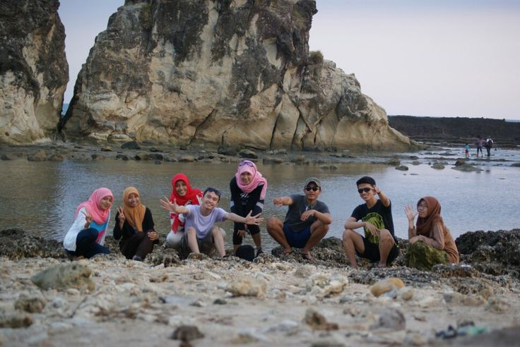 Travel at sawarna beach