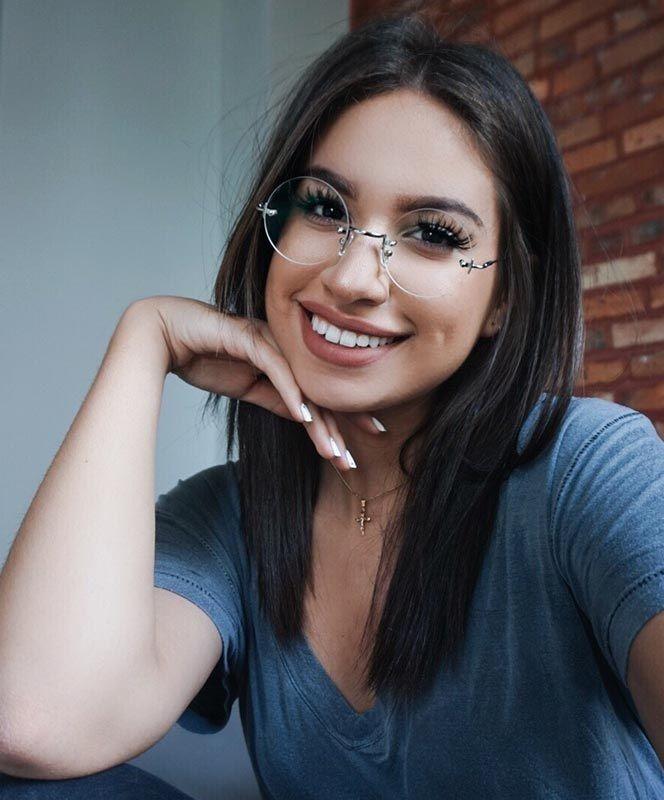 Oculos De Grau Feminino Unissex Sem Aro Redondo Minimalista Com