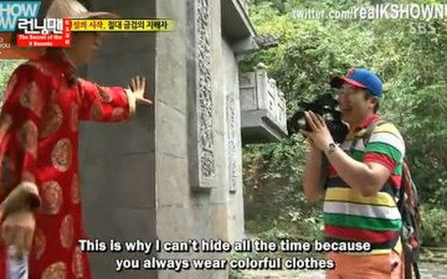 Hahaha Yoo Jae Suk and his cameraman.
