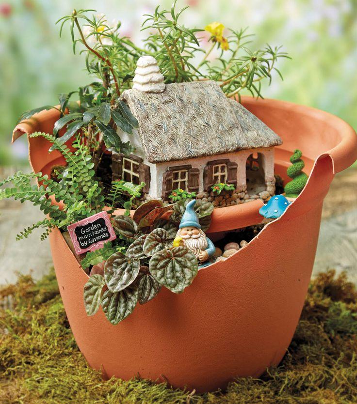 Incredible Broken Pot Ideas Recycle Your Garden: 1216 Best Images About Fairy Garden On Pinterest