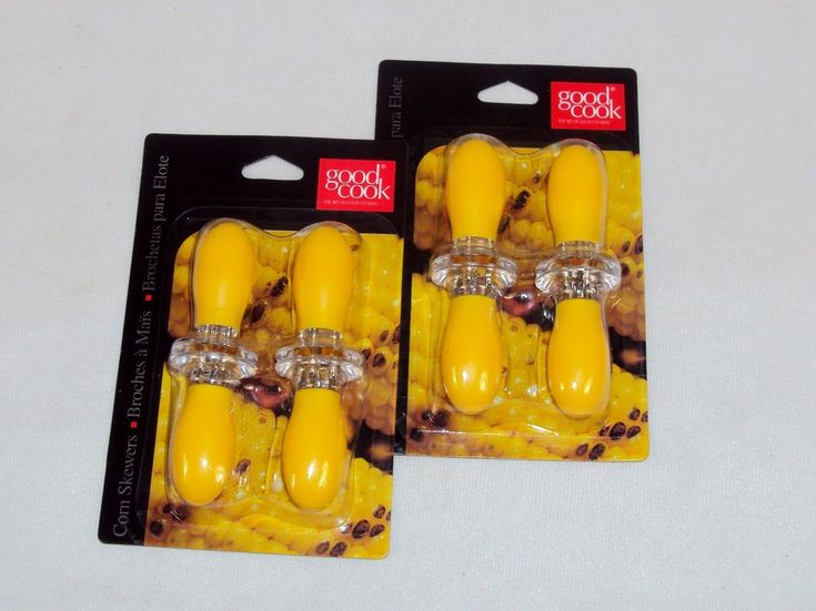 Good Cook Corn Cob Holders ~ Set Of 8 Skewers ~ Interlocking For Safe Storage