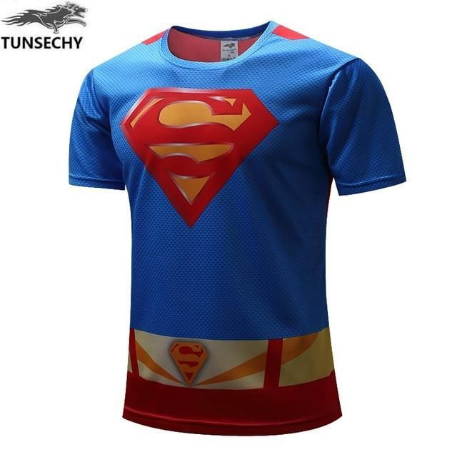 Super Hero T-shirt Superman/Batman/spider man/captain America /Hulk/Iron Man