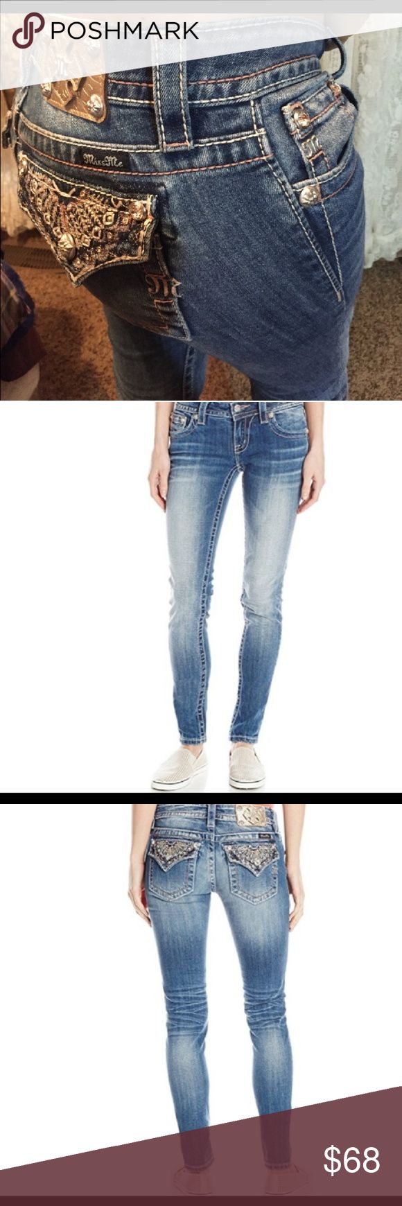 OBO Gorgeous MISS ME SKINNY JEANS SIZE 27.. GORGEOUS MISS ME SKINNY JEANS SIZE 27..LIKE BRAND NEW , NWOT but looks brand new!! I have plenty plenty of compliments on these!!.. well sell for $68 or best offer Miss Me Jeans Skinny