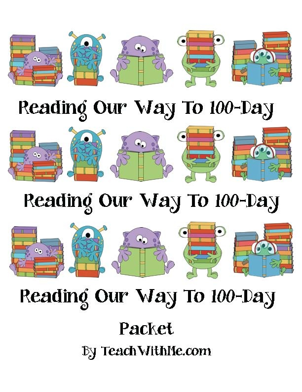 Reading Our Way To 100-Day Packet - Pinned by @PediaStaff – Please Visit ht.ly/63sNtfor all our pediatric therapy pins