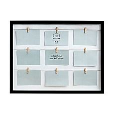 image of Prinz Clothespin 9-Photo Collage Picture Frame