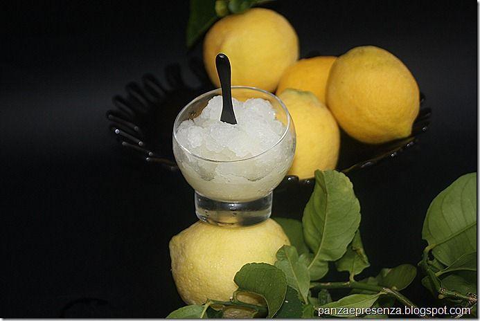 Granita al limone con il trucco