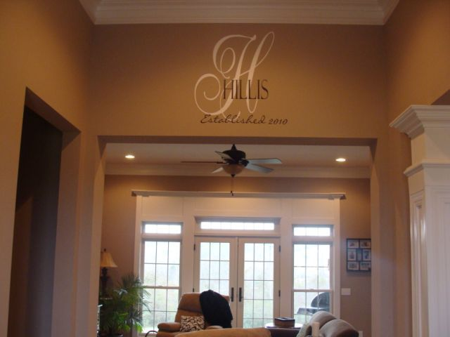 Best Writing On The Wall Images On Pinterest Home Wall - Family monogram wall decals