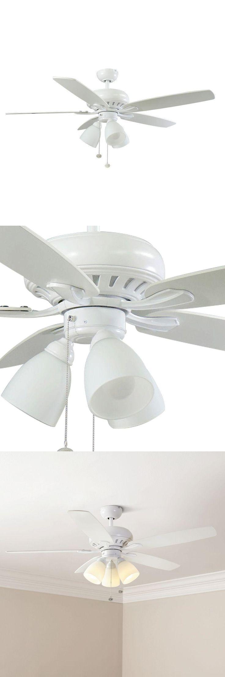 Ceiling Fans 176937: Hampton Bay Rockport 52 In. Led Matte White Ceiling Fan 1001673210 -> BUY IT NOW ONLY: $68.95 on eBay!