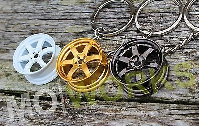 Keychain for Volk TE37 wheels keyring JDM USDM turbo auto rims spare parts