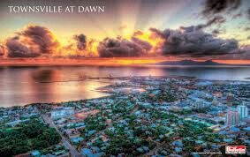 Townsville at dawn from Castle Hill