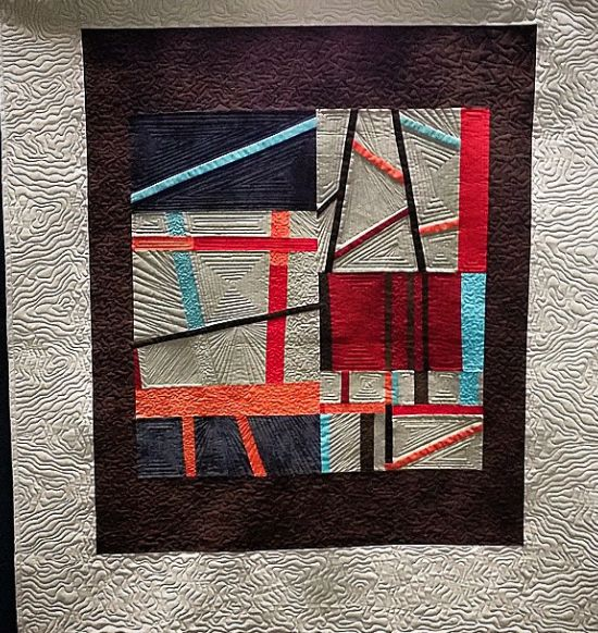 'Juxtapose' at the NJ #Quiltfest #quilting #modern #art