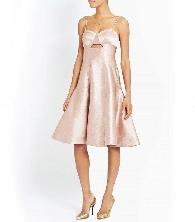 The perfect dress for an emgagent party // Jonathan Simkhai Metallic Ball Dress