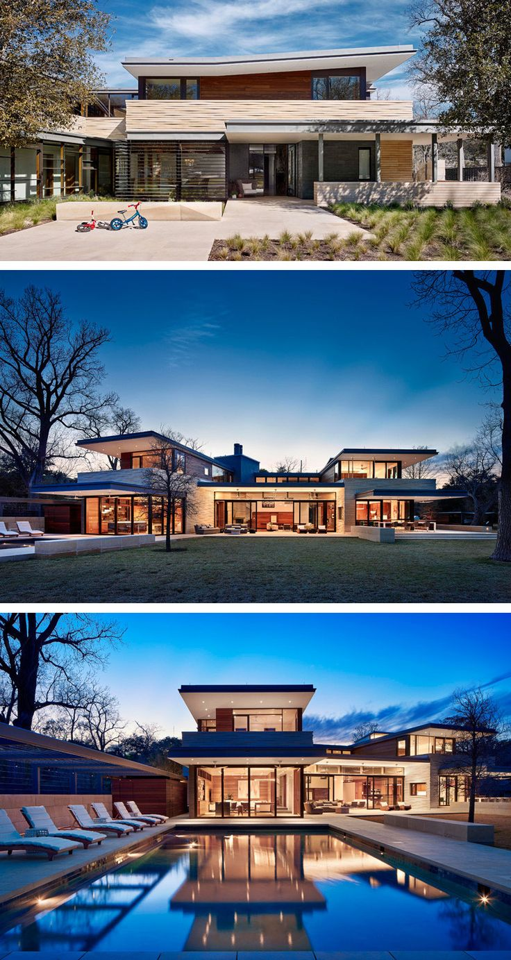 Aamodt / Plumb Architects have designed a house for a family, located on the western bank of Lake Austin in Texas.