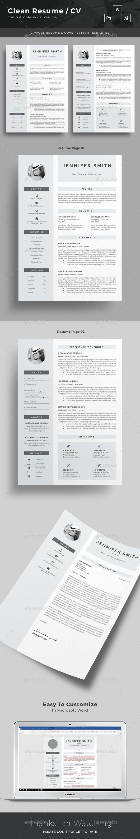 Resume 118 best Resume design template images