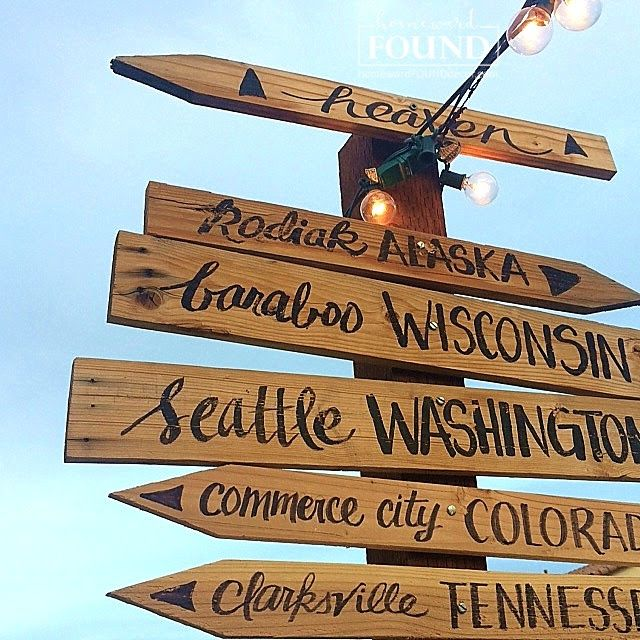 Rustic Signpost From Scrap Wood Sign Post Funky Home Decor Wood Craft Projects