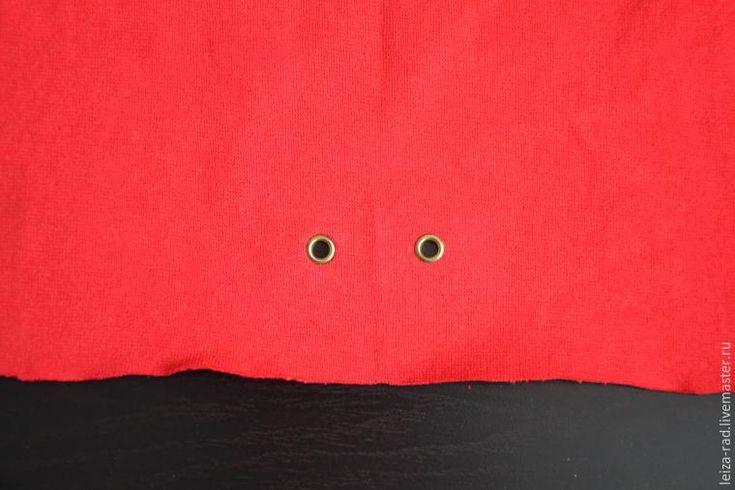 Как установить люверсы на трикотажную ткань - Ярмарка Мастеров - ручная работа, handmade