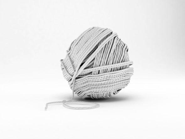 Ein Wollknäuel für das Stricken oder das Arbeiten mit einer Strickliesel