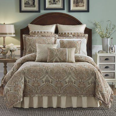 add an elegant touch to your bedroom with this hampton hill canovia springs comforter set it will best suit a traditional home decor
