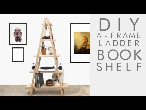 DIY A-Frame Ladder Bookshelf | Modern Builds | EP. 62 - YouTube