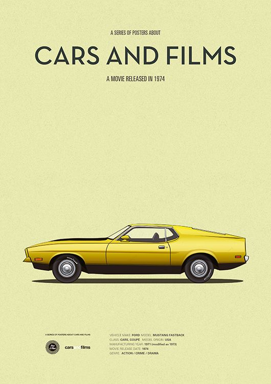 Poster of the car of Gone in Sixty Seconds. Illustration Jesús Prudencio. Cars And Films