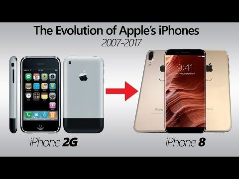 The Evolution of Apple's iPhone 2007-2017 | iPhone 2G - iPhone 8  #apple #evolution #iphone