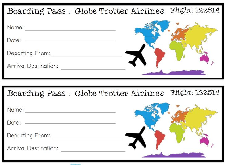 Boarding pass for our Holidays Around the World trip  Primary Grade Holiday Fun  Pinterest