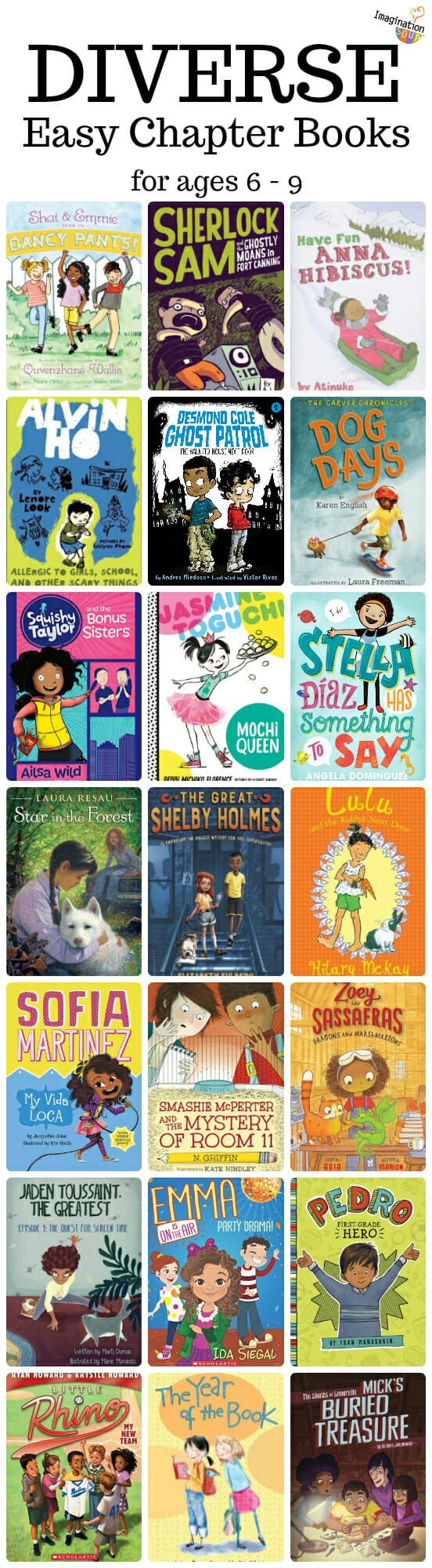 Diverse Beginning / Easy Chapter Books for Kids Ages 6 - 9