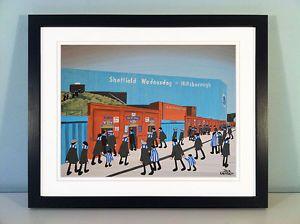 "JACK KAVANAGH ""HILLSBOROUGH STADIUM"" SHEFFIELD WEDNESDAY FRAMED PRINT  | eBay"