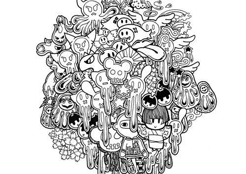 daruma doll coloring pages - photo#7