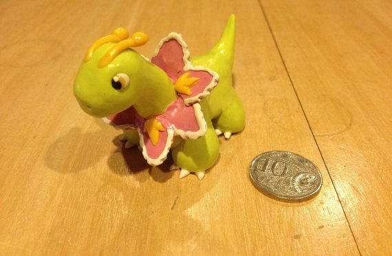 Meganium Polymer Clay Sculpture by PolymerParrot on Etsy