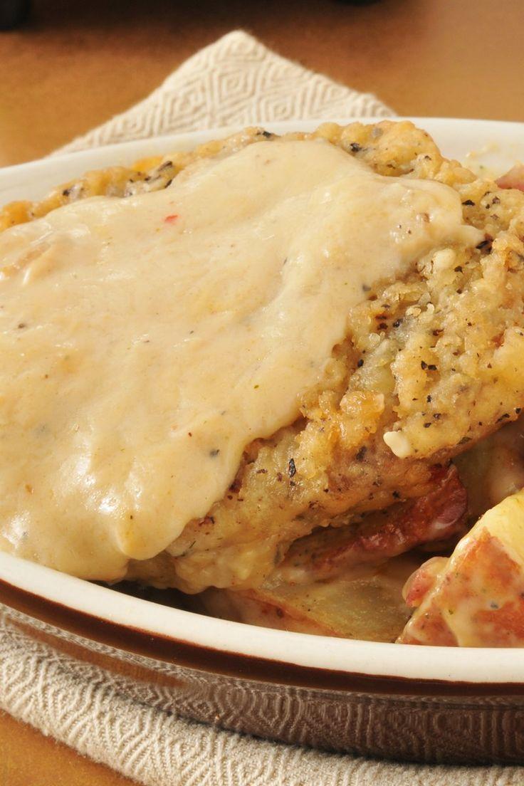 Chicken Fried Steak with Country Gravy - Recipe Girl